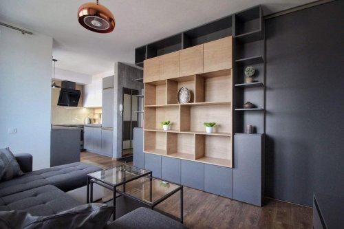 Nábytok na mieru - 1,5 izbový byt - Bory Bývanie 1 - obývačková zostava